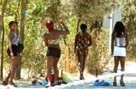 Prostitutas subsaharianas en la Casa de Campo. (Paco Toledo)