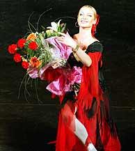La bailarina, tras una de sus actuaciones (AP)
