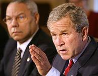 George W. Bush, durante el 'Consejo de Ministros' del jueves. (AP)