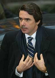 José María Aznar, en Bruselas. (EFE)