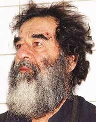 El ex presidente iraquí tras la captura. (AP)