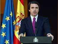 El presidente del gobierno, en la declaración institucional. (EFE)