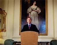 Tony Blair, durante su rueda de prensa desde Downing Street. (AFP)