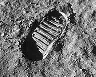 Huella del primer hombre en la Luna. (NASA)