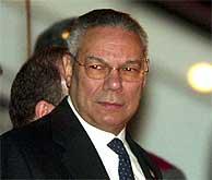 El secretario de Estado de EEUU, Colin Powell, en Georgia. (REUTERS)