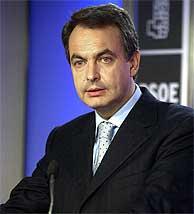 José Luis Rodríguez Zapatero, en la sede del PSOE. (EFE)