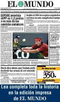 Lea la noticia íntegra en la edición impresa de EL MUNDO