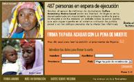 Página web de la campaña contra la pena de muerte. (AI)