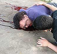 Guadamuz recibió cinco tiros. (AFP)