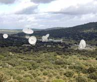 Vista panorámica de las antenas de Robledo de Chavela.