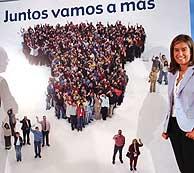 El cartel del PP. (EFE)
