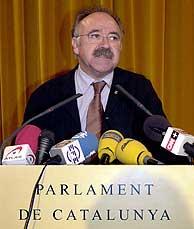 Carod-Rovira, en su comparecencia en el 'Parlament'. (EFE)