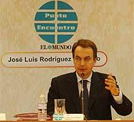 José Luis Rodríguez Zapatero, en el foro de 'EL MUNDO'. (Alberto Cuellar)