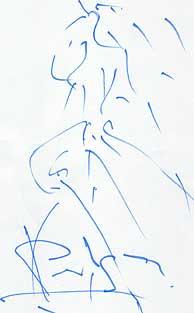 El boceto realizado por Pertegaz. (EFE)