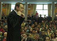 José Luis Rodríguez Zapatero, en la Universidad Carlos III. (Ricardo Cases)