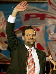 Mariano Rajoy durante el mitin en Barcelona. (César Rangel)