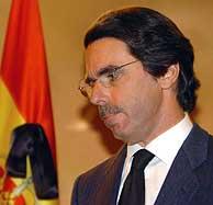 Aznar, durante su declaración, en La Moncloa. (EFE)
