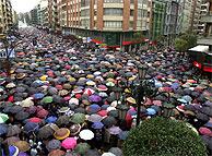 Imagen de la manifestación en Oviedo. (EFE)