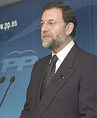 El candidato del PP a la Presidencia del Gobierno Mariano Rajoy