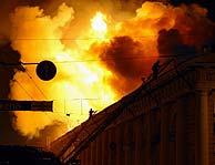 Imagen del incendio. (AP)
