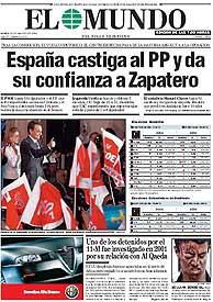 Vea la portada de EL MUNDO en PDF
