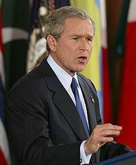 George W. Bush, en su discurso en la Casa Blanca. (AP)