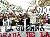 Los manifestantes, contra la guerra de Irak. (EFE)