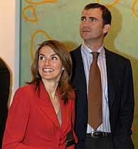 El Príncipe Felipe y su prometida. (AFP)
