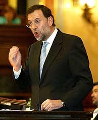Mariano Rajoy, en su intervención. (REUTERS)