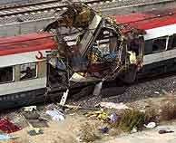 Los terroristas colocaron 13 explosivos en cuatro trenes de Cercanías. Murieron 191 personas. (EFE)