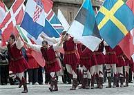 Celebración en Santiago de Compostela. (EFE)