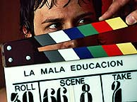 Imagen del rodaje de 'La mala educación', que abrirá Cannes.