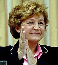 La directora general de RTVE, en el Congreso. (EFE)