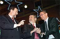 Mariano Rajoy, Jaime Mayor Oreja y Alberto Ruiz-Gallardón. (EFE)