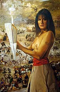 El cuadro 'La Maja', de Saavedra. (AFP)