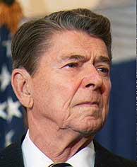 Reagan, en una imagen captada en 1988. (AP)