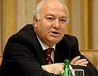 Moratinos, durante su comparecencia en el Congreso. (EFE)
