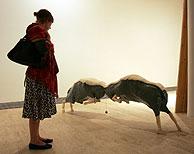 Una de las obras, expuestas en Donostia. (Pablo Quiza)