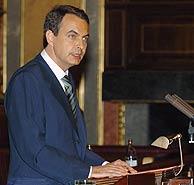 Zapatero en el Congreso. (EFE)