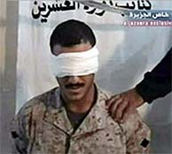 Imagen difundida por Al-Yazira del 'marine' retenido. (AFP)