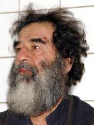 Sadam, tras ser capturado. (EFE)