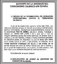 Primera página de un informe policial de noviembre de 2003.