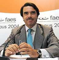 Aznar, en su discurso en la fundación FAES. (EFE)