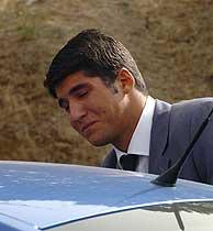 Julián Contreras, hijo de Carmina Ordóñez, a su llegada al Instituto Forense de Madrid. (EFE)