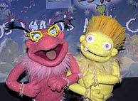Dos de los personajes, en uno de los programas. (TVE)