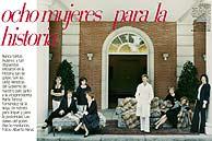 Las ministras posaron en la Moncloa. Imagen cedida por Vogue España . (Alberto Heras)
