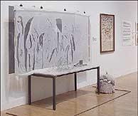 La composición de Gustav Metzger en la Tate. (BBC)