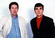 Christian Chesnot y Georges Malbrunot, los dos periodistas franceses secuestrados en Irak. (AFP)