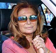 Rocío Jurado, el día que salió de la clínica. (EFE)