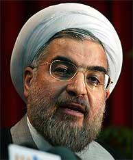 El Secretario del Consejo Nacional de Seguridad, Hasan Rowhani. (AP)